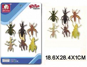 SR6328-142 Резиновые насекомые,6шт(на картоне)