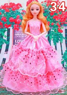 Бальное платье для куклы 30 см (БЕЗ куклы) Цвет: НА ФОТО