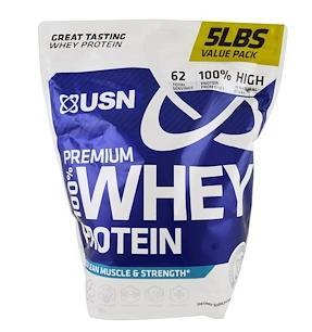 USN, 100% премиальный сывороточный протеин 2,27 кг