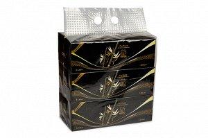 "Салфетки в коробке  ""INSHIRO"" Pur Pur 100% Bamboo 3-х. сл. (130 шт.) 1/3/48 PP528"