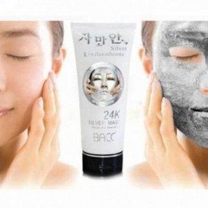 Серебряная маска - пленка для лица плюс глутатион