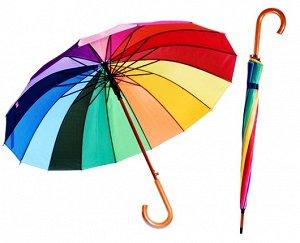 Зонт-трость радуга, 10 спиц - диаметр 95см