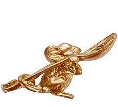 Мышка с ложкой цвет золото, в упак