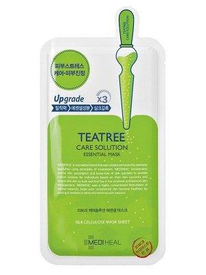 Mediheal Teatree Care Solution Essential Mask EX Ампульная  маска с экстрактом чайного дерева для жирной, проблемной кожи