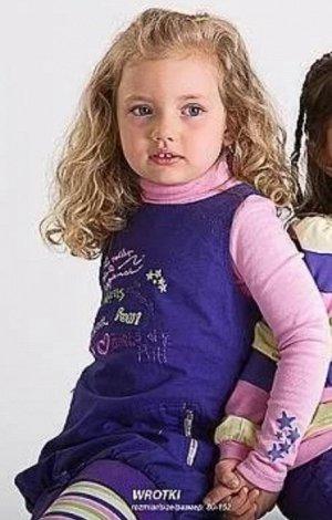 Водолазка MM Dadak Польша Розовая водолазка на девочке под сарафаном. 96% хлопок, 4% эластан