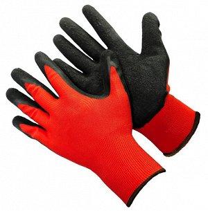 Перчатки нейлоновые со вспененным чёрным обливом