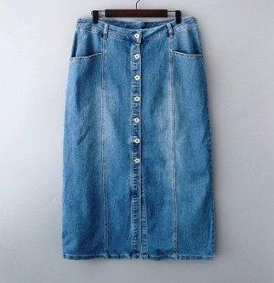 Джинсовая юбка на 56 - 58 размер