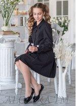 Платье школьное АРФА, цвет черный. РАСПРОДАЖА!