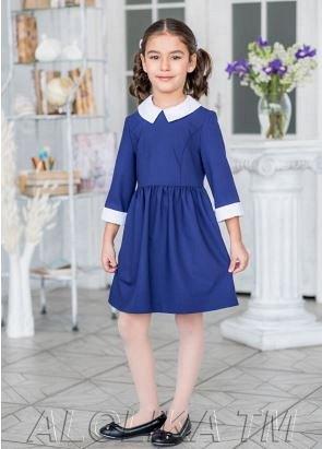 Платье школьное Мэнни, цвет синий
