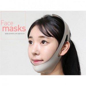 Маска бандаж для подтяжки и коррекции овала лица с 3D лифтинг эффектом