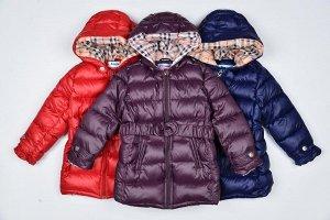 Куртка Удлиненная демисезонная куртка для девочки : плащёвка, утеплитель холлофайбер, подкладка полиэстер .
