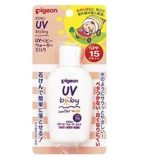 Детское солнцезащитное увлажняющее молочко UV SPF 15 с рождения, PIGEON 60 гр.