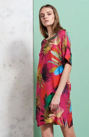 Dress цена до скидки - 10120 руб  Платье,100%Шелк,220РозовыйFUXIA