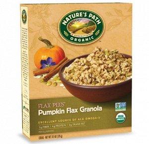 Органическая Гранола с тыквенными и льняными семечками Pumpkin Flax Plus® Granola  карт/кор325гр  СРОК ГОДНОСТИ ДО 16.05.2021