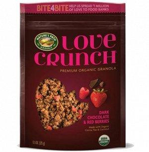 Love Crunch® Dark Chocolate & Red Berries Органический кранч с темным шок. и красными ягодами 325 гр СРОК ГОДНОСТИ ДО 20.07.201