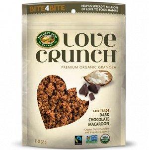 Love Crunch® Dark Chocolate Macaroon Органическая Премиум Гранола с темным шокол. и кокос. стр 325гр СРОК ГОДНОСТИ ДО 06.05.21