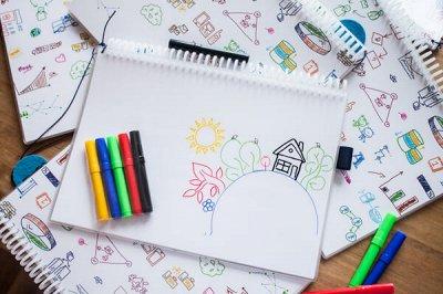 Быстрая канцелярия +💞Маркеры для скетчинга💓 — Альбом для рисования и Картон цветной — Домашняя канцелярия