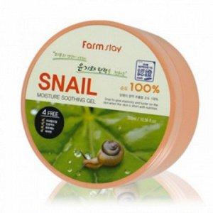 Farm Stay Увлажняющий успокаивающий гель с улиточным муцином Snail Moisture Soothing Gel 300 ml