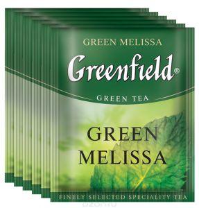 Чай Гринфилд Green Melissa green tea в п/э уп. для Horeka 1,5г 1/100/10