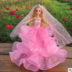 Платье светло-розовое БЕЗ фаты