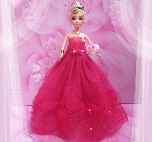 Платье темно-розовое с розами