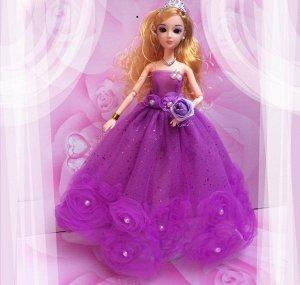 Платье фиолетовое с розами