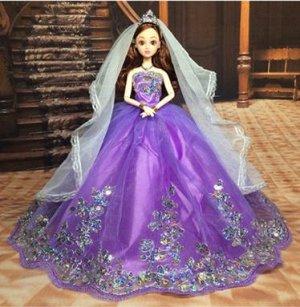Платье фиолетовое с узором из пайеток