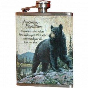 Фляжка Медведь 210 мл А03-1
