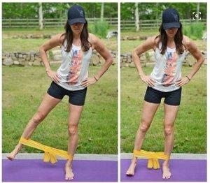 Отведение ноги с резинкой в сторону