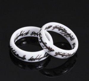 кольцо ---керамика белое
