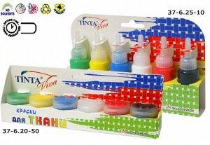 "Краски по ткани ""Tinta Viva 6 флаконов по 27 мл"