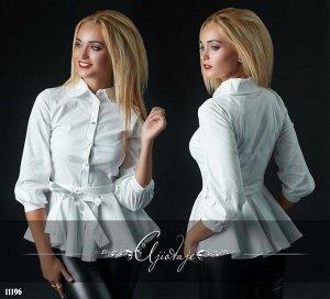 Рубашка блузка белая поплин 42 р.❤AJIOTAJE- женская одежда 14❤