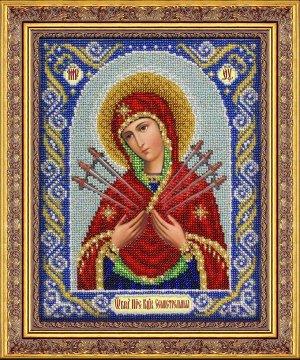 Набор (вышивка бисером) Богородица Семистрельная