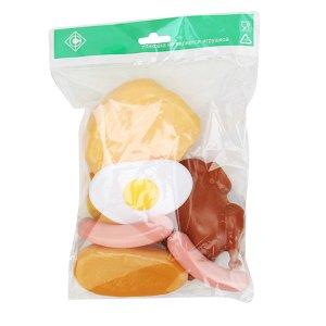 "Совтехстром.Набор ""Продукты"" арт. У549 (хлеб,батон,круассан,яичница,курица,сосиски) /10"