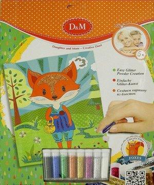 "D&M Лисы. Картина с блестками арт.61994 ""Лисы"""