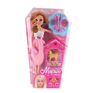 """Карапуз. Кукла """"Мария"""" 29 см, с гламурной собачкой и аксесс., в ассорт. арт.6530-RU"""