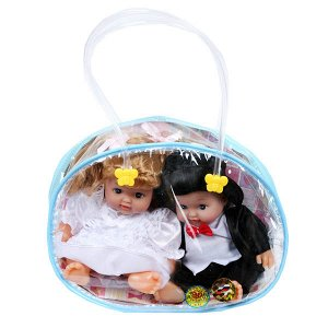 """Карапуз. Набор из 2-х кукол """"Жених и невеста"""", цвет в ассорт. в сумке арт.213-037V"""