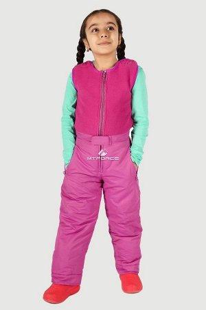 Брюки горнолыжные подростковые для девочки розового цвета