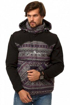 Мужская зимняя жилетка утепленная фиолетового цвета