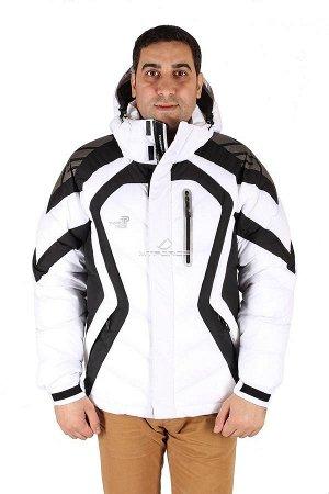 Мужская зимняя спортивная куртка белого цвета