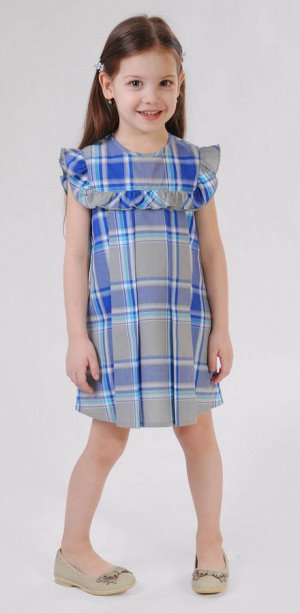 Платье васильковый
