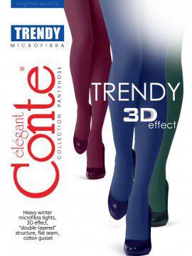 Trendy 150 колготки (Conte) Плотные непрозрачные колготки из нитей Microfibra с эффектом 3D