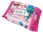 Влажные салфетки (водорастворимые, спиртосодержащие, с антибактериальным эффектом, для обработки унитаза, цветочный аромат) 30 ш