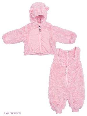HUPPA Флисовый комплект для малышей KEBY, розовый 003