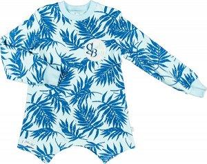 Блуза 9 DADAK. Состав: 95% хлопок, 5% эластан. Ткань плотная, эластичная, с внутренней стороны петельчатая. Удлинённая блуза с оригинальным кроем низа. Страна бренда: Польша.