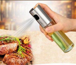 Спрейер распылитель для масла (комплекте маленькая воронка). Стекло/металл