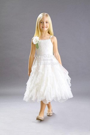 Лето-Платье миди пышное,сетка/мушка   Fa-So-La