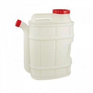 Канистра Канистра 20,0 л [БОЧОНОК] со сливом. Размеры изделия: Д / Ш / В  300 /210 /475 мм. Канистра изготовлена из прочного пищевого пластика и предназначена для транспортировки и хранения пищевых жи