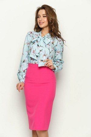 Красивая розовая юбка-карандаш Valentina на 40-42 размер!