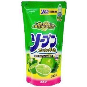 """27090 Жидкость для мытья посуды """"Kaneyo – свежий лайм"""" (сменная упаковка), 500 мл"""